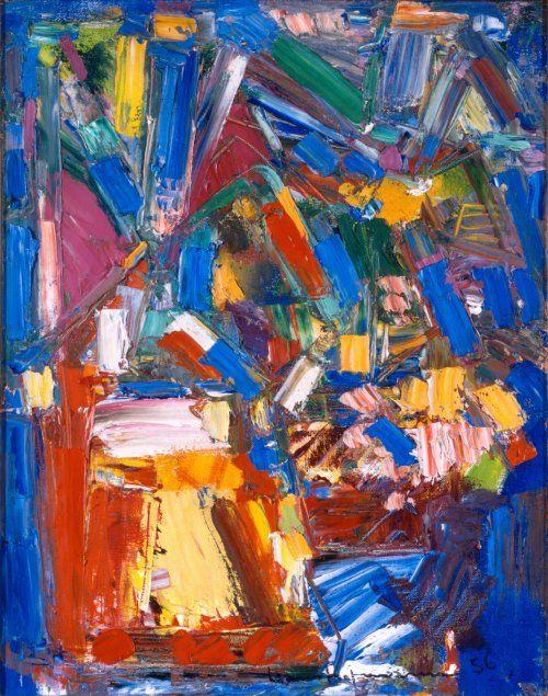 Scintillating Blue 38-30 / Hans Hofmann / 1956