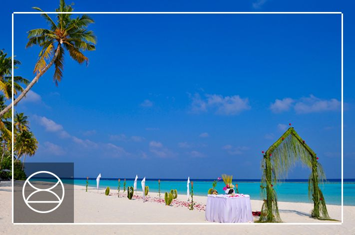 Tropical colours and white sand beaches at Constance Halaveli, Maldives