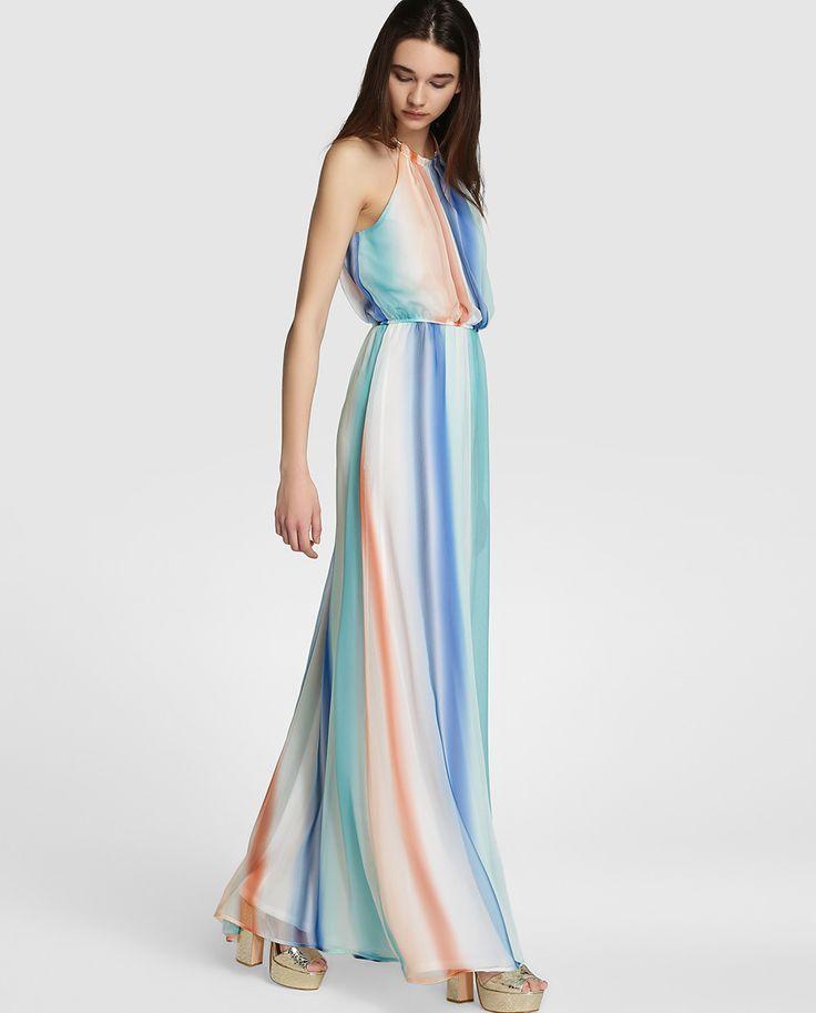 Vestido largo de mujer Fórmula Joven con estampado multicolor
