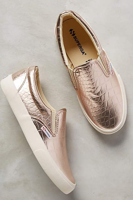Golden Slip-On Sneakers