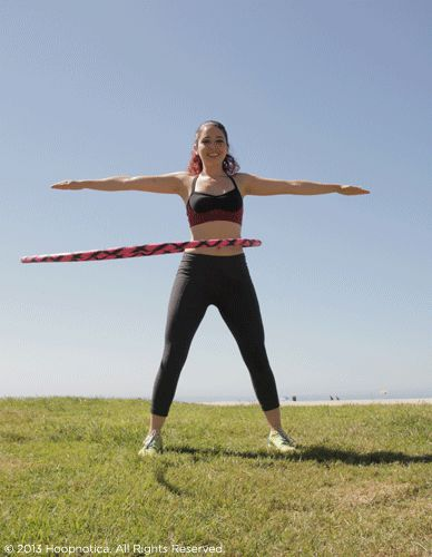 10 Hula hoop exercises -- this page includes nice gifs so you can see the technique for each exercise. I love my new hoop and will be trying these!