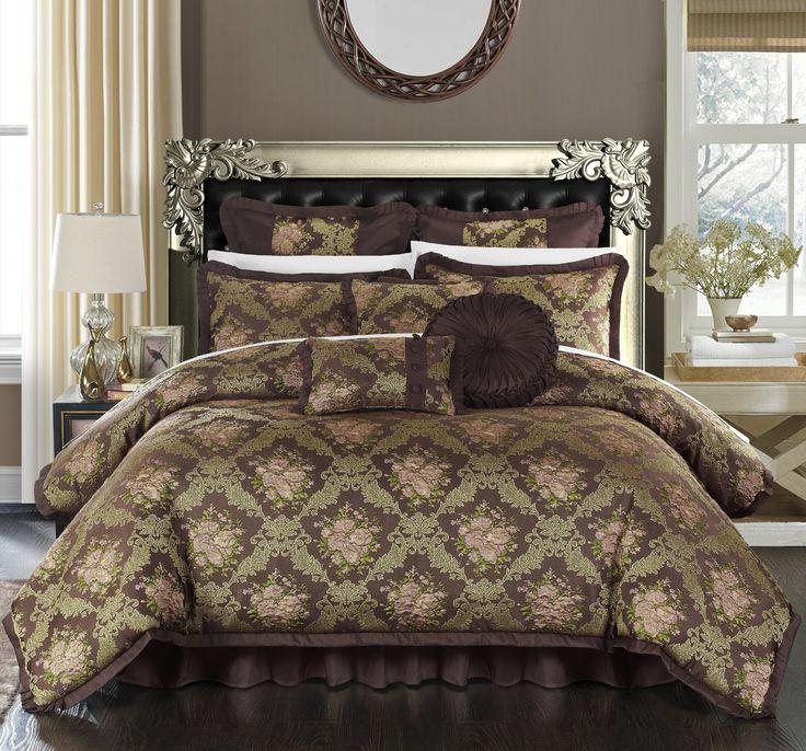 Brown Pisani Comforter Nine Piece Set