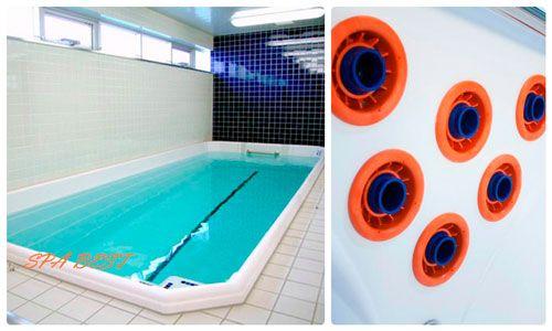 swim spa sport .  Свим спа - компактный бассейн с мощным устройством противотока для заплывов на бесконечно длинные дистанции.
