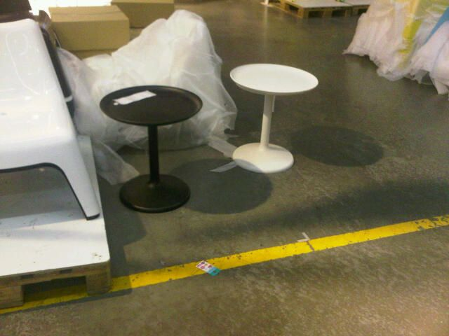 Ikea tables - black or white for balcony?