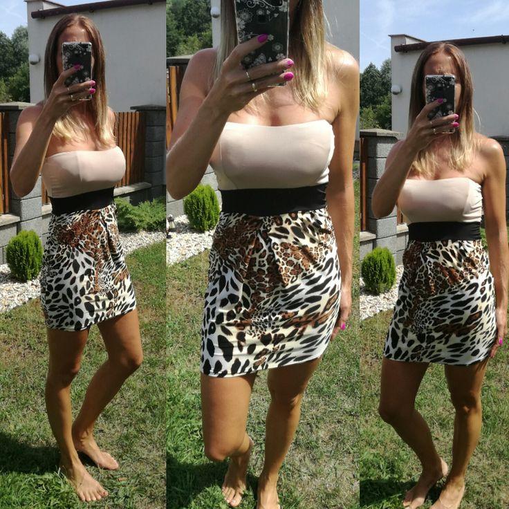 Dámské letní šaty leopardí
