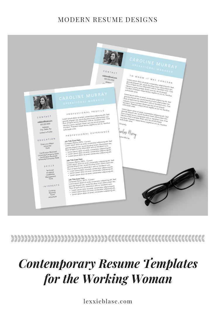 contemporary resume template | resume designs for modern working
