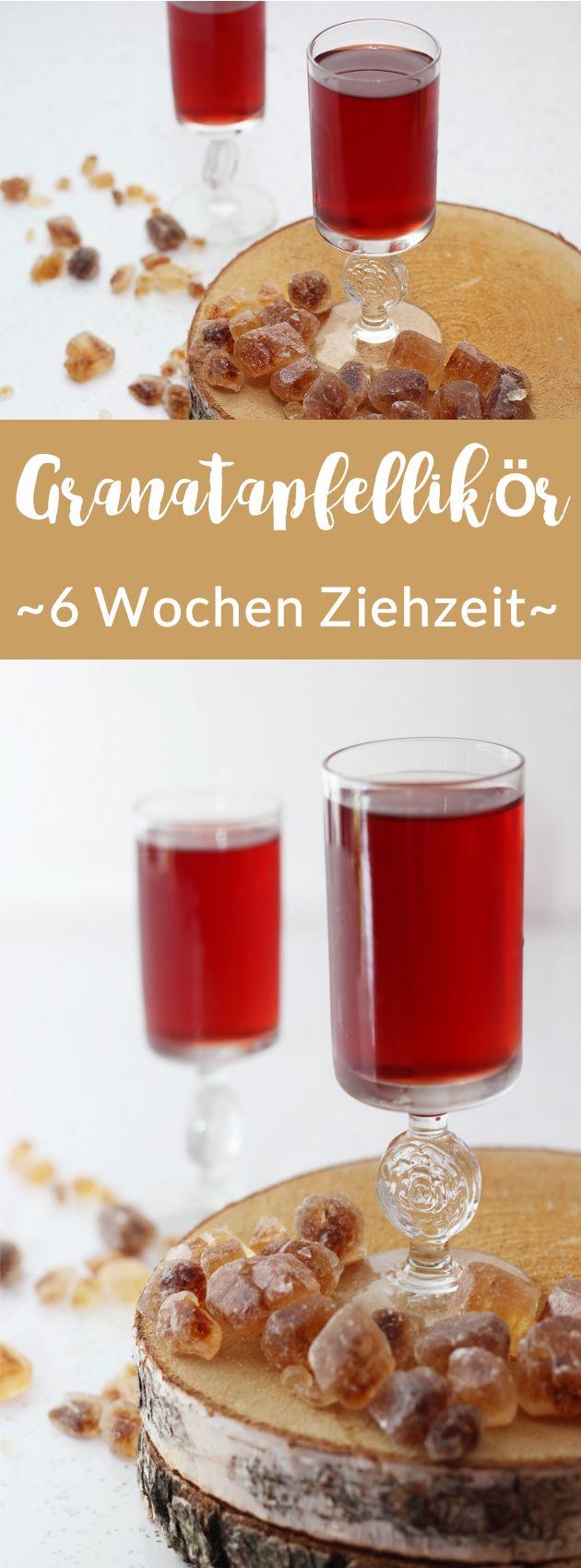 Selbstgemachter Likör mit Granatapfel | Granatapfellikör mit Vanille, Wodka und braunem Zucker | 6 Wochen Ziehzeit | #likör #rezept
