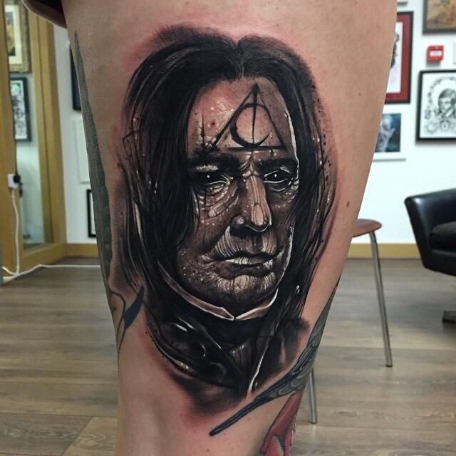 Snape Tattoo by Anrijs Straume