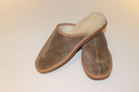 Mens loafer sheepskin slippers by sheepersLDN on Etsy