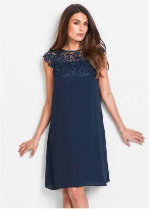 Premium šifónové šaty s krajkou eb7cf1c508