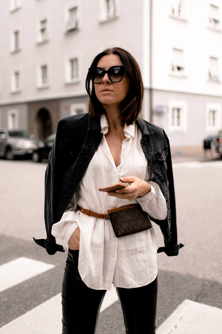 Mein Herbst Outfit mit Lederhose, Longbluse und Gürteltasche! – Who is Mocca? – Fashion Trends, Outfits, Interior Inspiration, Beauty Tipps und Karriere Guides