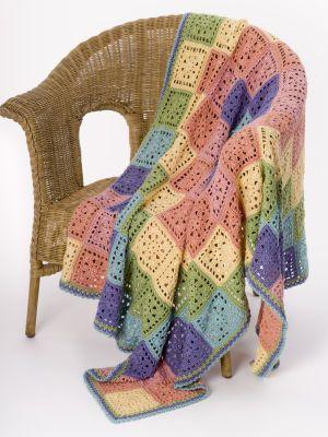 Caron® Crochet Sunscape Throw...pretty.
