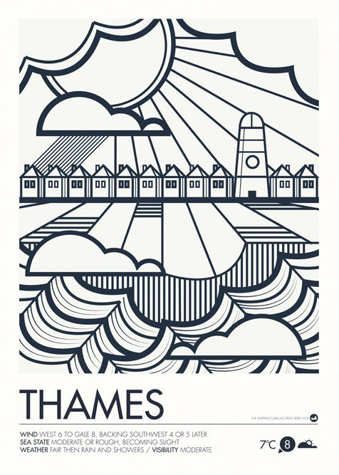 Good Image of Shipping Forecast Prints Thames