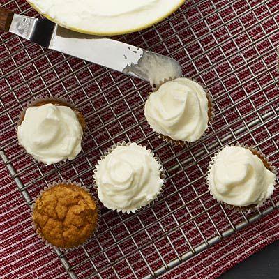 Spiced Pumpkin Cupcakes - Healthy Pumpkin Recipes - Health.com