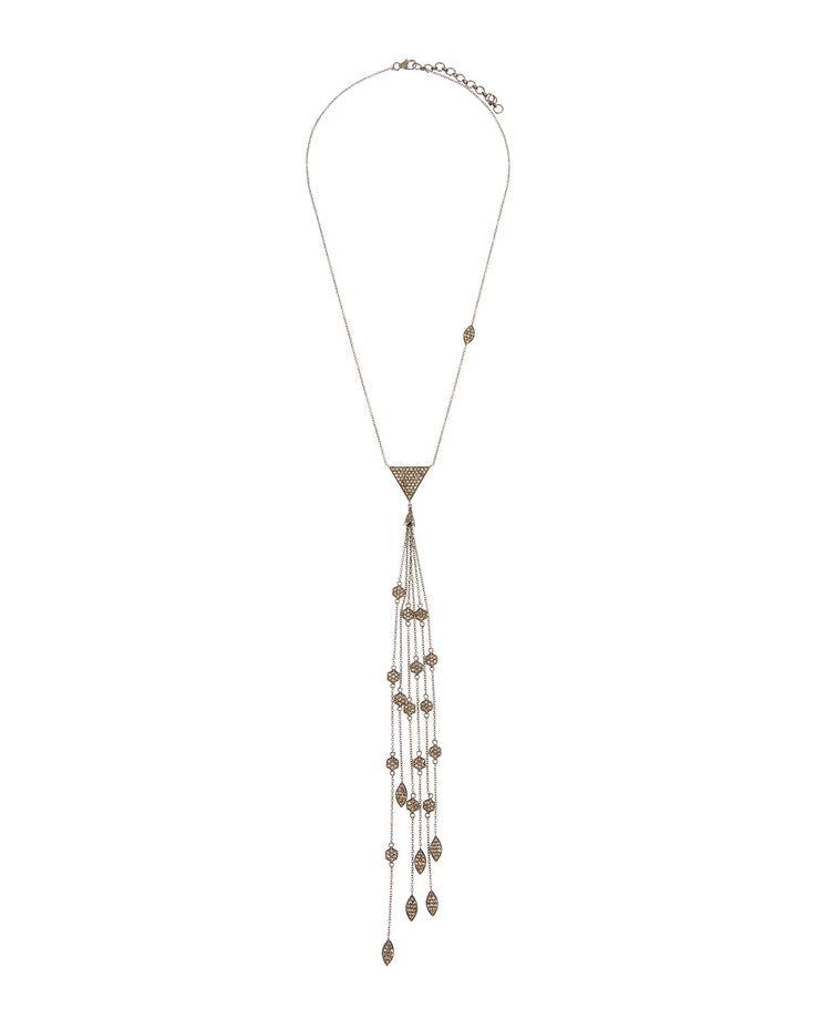 Bavna Double-Strand Y-Drop Pearl Necklace 31iNmEO