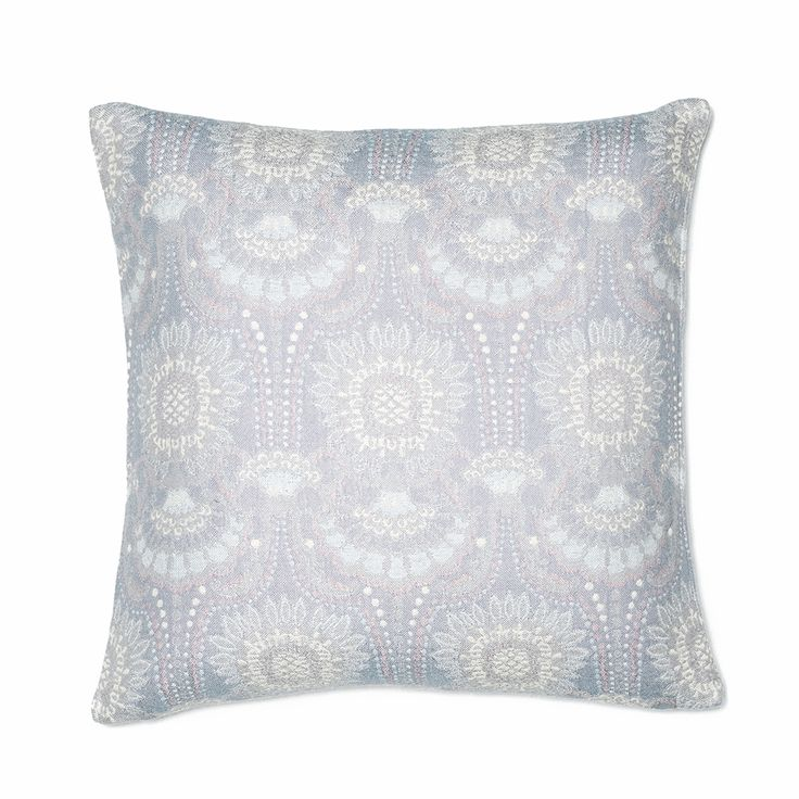 Lennol | ODELIA Ornamental design patterned cushion, light blue