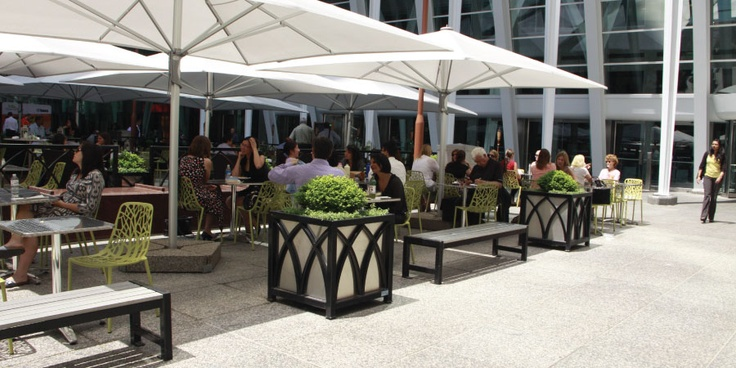 MLB400BW Benches and Custom Planters at Brookfield Place, Toronto, ON #maglin #maglinsitefurniture