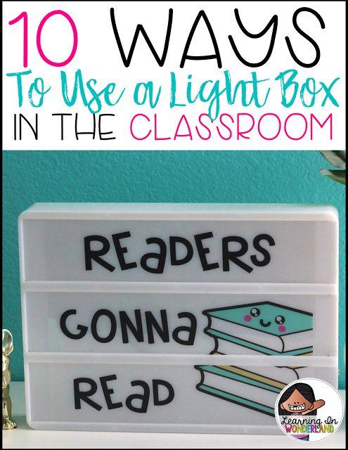 Classroom Lighting Ideas : Light box tips tricks and ideas boxes the o jays