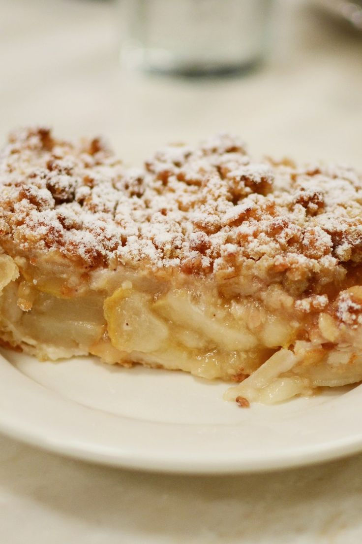 Dutch Apple Slab Pie Recipe with Brown Sugar & Cinnamon Streusel Crumb Topping. A great dessert to make for a crowd!