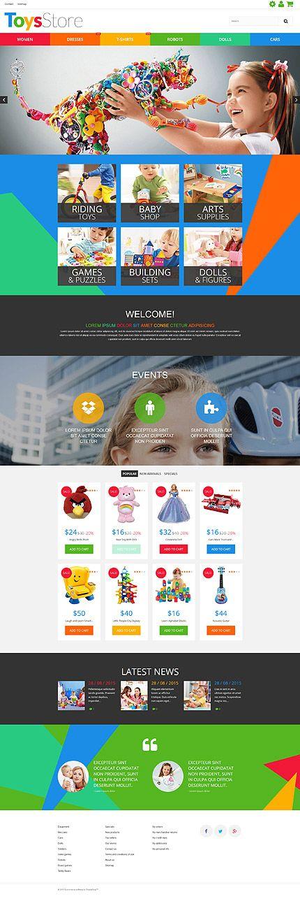 Kids Toys Online Store #Prestashop #template. #themes #business #responsive #webshop #Prestashopthemes