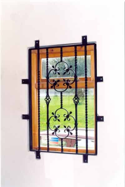 28 best wrought iron window grill images on pinterest for Window protector designs
