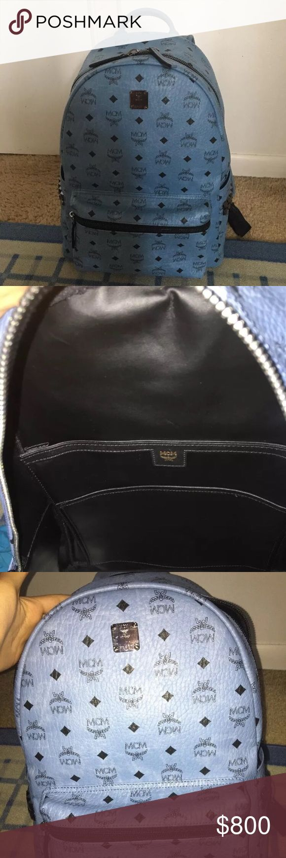 MCM medium backpack Blue mcm backpack. Authentic, never used. Got it from an MCM store. New without tags. MCM Bags Backpacks