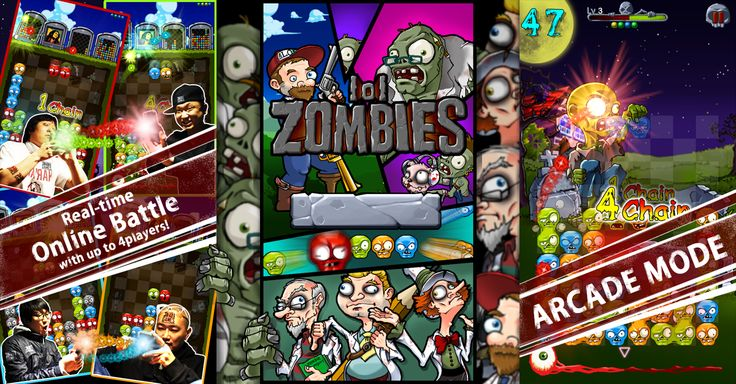 Zombies lol's 1st FB Marketing Poster, Brand New iPhone Puzzle Game, We Make Hard! Real Time Online Battle!!