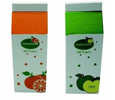 Juice, appelsin eller eple - lekemat i tre