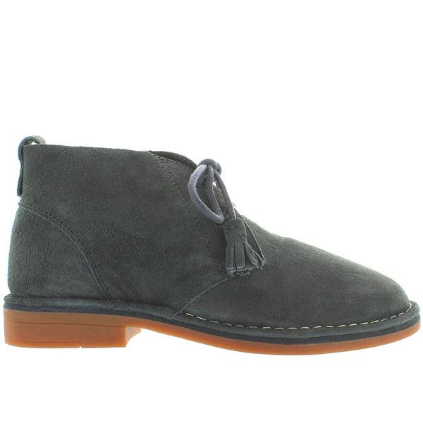 Hush Puppies Cyra Catelyn - Dark Grey Suede Chukka Boot