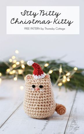 Itty Bitty Kitty Haken Crochet Crochet Patterns En Christmas