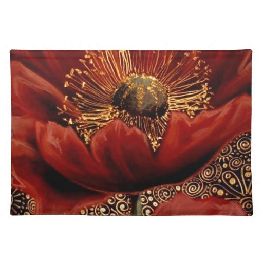 Red Poppies Placemats