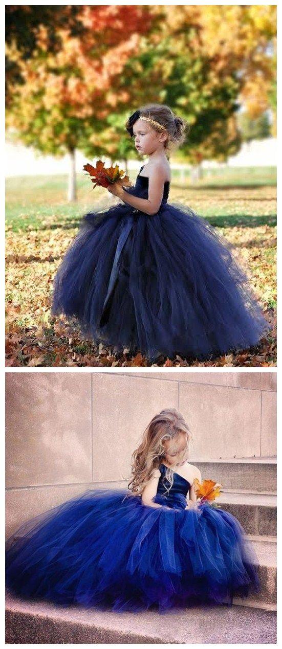 fbaa5c947e1 Exquisite Tulle One-shoulder Neckline Ball Gown Flower Girl Dresses ...