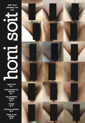 Honi Soit censored cover