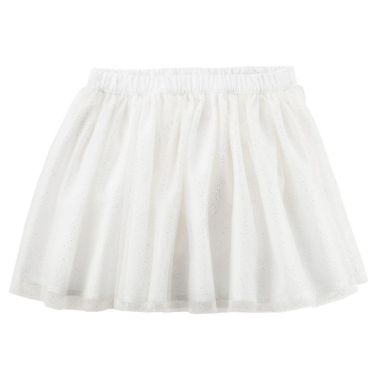 Baby Girl Carter's White Tutu Skirt, Size: 12 Months