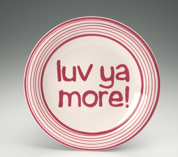 Love Plate Red and White Valentine Ceramic by owlcreekceramics $20.00 & 70 best Ceramics - Valentines Day images on Pinterest | Ceramic ...