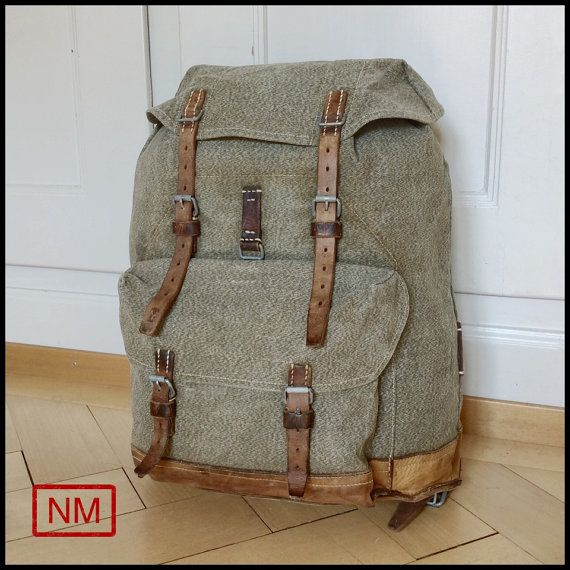 Vintage Swiss Army Backpack   RucksackMilitary by NaturaMachinata