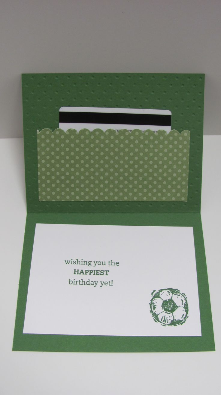163 best cards gift card holders images on pinterest cards diy soccer birthday card using honeycomb embossing folder inside card magicingreecefo Gallery