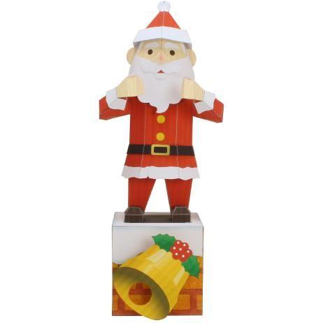 Tanzender Weihnachtsmann,Spielzeuge,Papiermodelle,Weihnachten,spielen,mechanisches Spielzeug,Tanz,Bewegliches Spielzeug,Weihnachtsmann