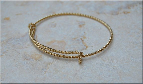 14k Solid Gold Expandable Bangle bracelet, Twisted 14k Gold Bangle, Solid Rose Gold Bracelet, Adjustable 14k Gold Bracelet, 14k Gold Jewelry
