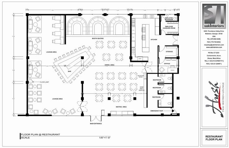 Restaurant Layout Floor Plan