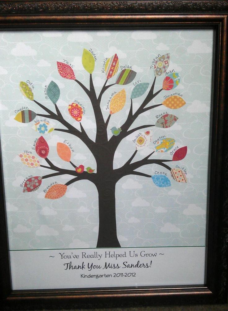 Class Tree - end of year teacher appreciation gift