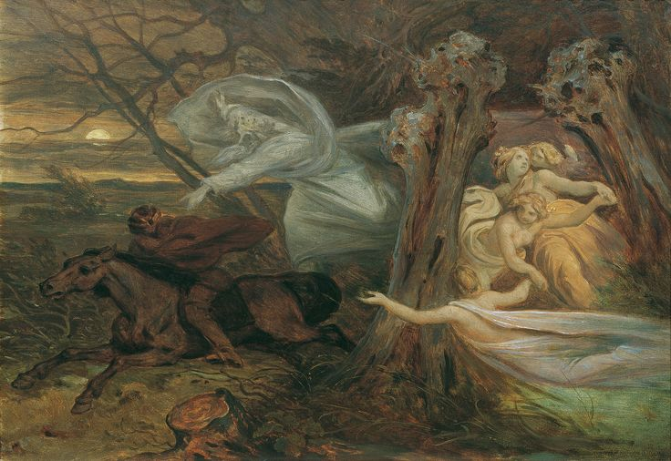 """Moritz von Schwind ~ von Goethe's """"Der Erlkonig"""" (The Erl King)"""