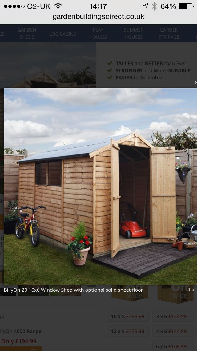 10x6 Shed £234.99