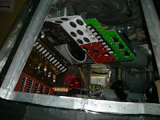 The control panel of a lifesize mock-up of the Mercury Capsule.