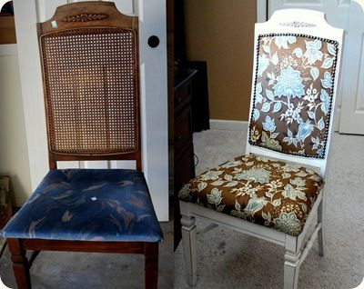 Re-upholstering a chair