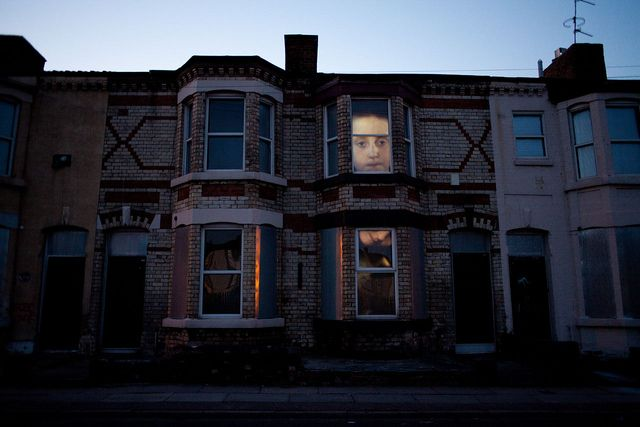 Ed Purver's atmospheric installation in Anfield as part of On the Street.  Check out www.biennial.com for more.