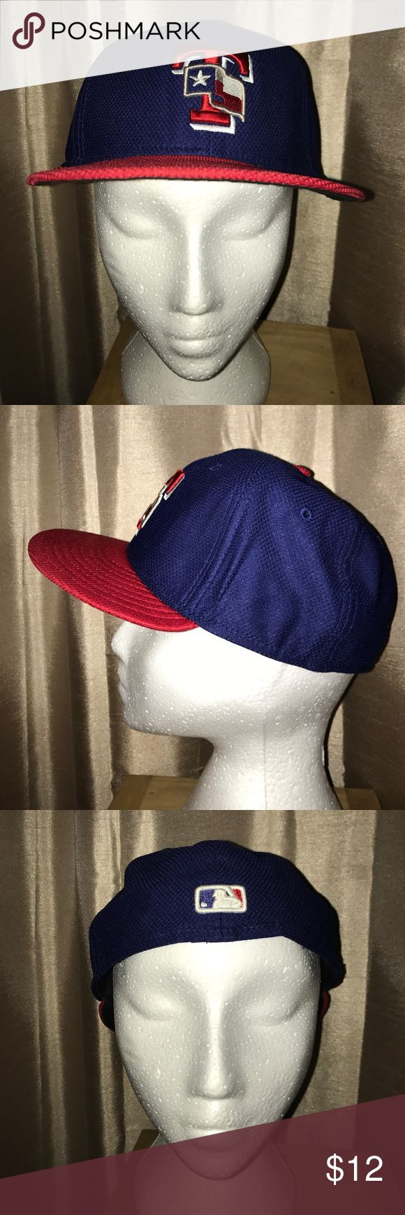 NICE Texas Rangers MLB Fitted Hat Cap 7 1/4  ⚾️ NICE Texas Rangers MLB Fitted Hat Cap 7 1/4 New Era Baseball ⚾️ New Era Accessories Hats