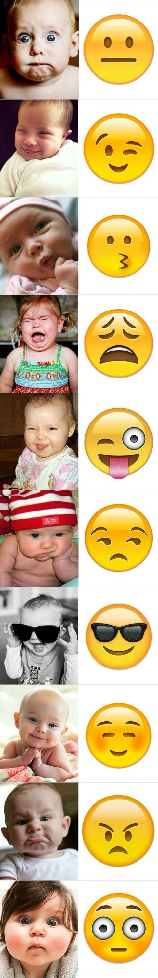 Babies Demonstrate Emoticons
