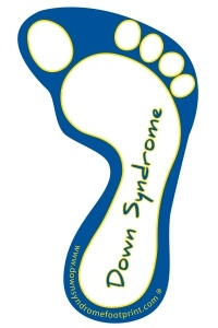 Down Syndrome Awareness Car Magnet - Down Syndrome text