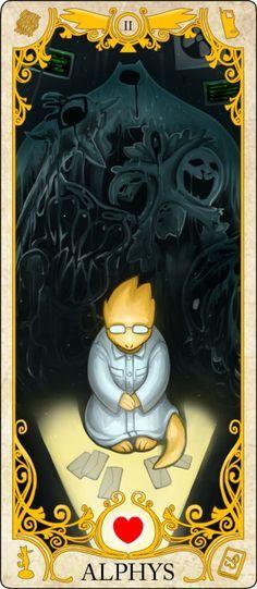 Undertale Tarot Card: Alphys